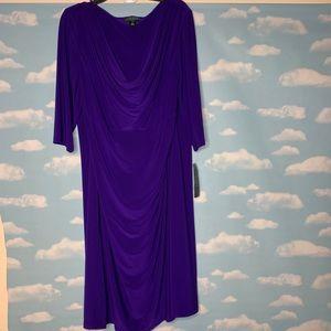 NWT Lauren Ralph Lauren- Purple Dress size 22w